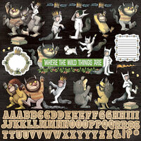 Paper House Productions - Where the Wild Things Are Collection - 12 x 12 Cardstock Stickers