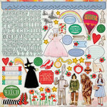 Paper House Productions - Wizard of Oz Collection - 12 x 12 Cardstock Stickers