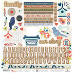 Paper House Productions - One Big Happy Family Collection - 12 x 12 Cardstock Stickers