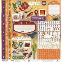 Paper House Productions - Southwest Adventure Collection - 12 x 12 Cardstock Stickers