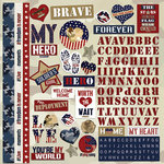 Paper House Productions - Home Front Girl Collection - 12 x 12 Cardstock Stickers - Love My Hero