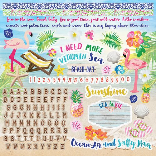 Paper House Productions - Paradise Found Collection - 12 x 12 Cardstock Stickers