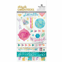 Paper House Productions - Marbleous Collection - StickyPix - Multipack Stickers with Foil Accents