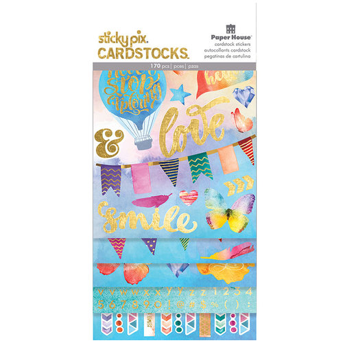Paper House Productions Color Washed Sticky Pix Cardstock Stickers