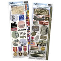 Paper House Productions - Cardstock Stickers - US Army