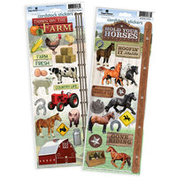 Paper House Productions - Cardstock Stickers - Horse and Farm