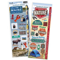 Paper House Productions - Cardstock Stickers - Maine