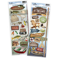 Paper House Productions - Cardstock Stickers - Fishing and Lake