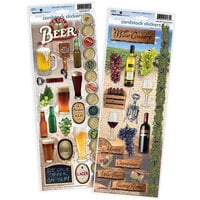 Paper House Productions - Cardstock Stickers - Beer and Wine