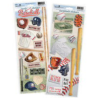 Paper House Productions - Cardstock Stickers - Baseball