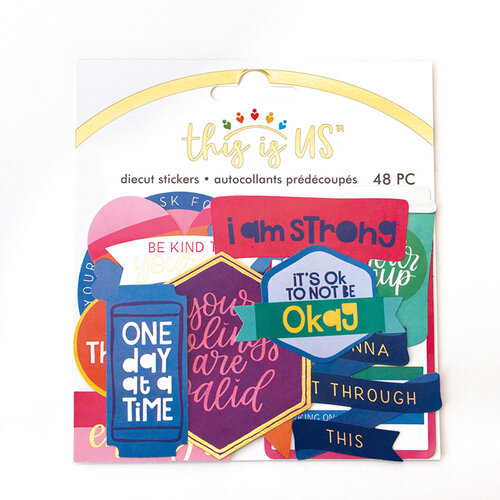 Paper House Productions - This Is Us Collection - Die Cut Sticker Pack - Mental Health