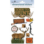 Paper House Productions - Hunting Collection - 3 Dimensional Cardstock Stickers with Foil and Glitter Accents - Born to Hunt