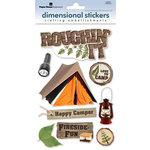 Paper House Productions - Camping Collection - 3 Dimensional Cardstock Stickers with Glitter and Glossy Accents - Roughin' It