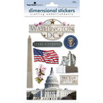 Paper House Productions - Washington DC Collection - 3 Dimensional Cardstock Stickers with Foil and Glitter Accents - Washington DC