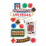 Paper House Productions - Las Vegas Collection - 3 Dimensional Cardstock Stickers with Glitter and Glossy Accents - Las Vegas
