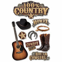Paper House Productions - Country Star Collection - 3 Dimensional Cardstock Stickers - Country