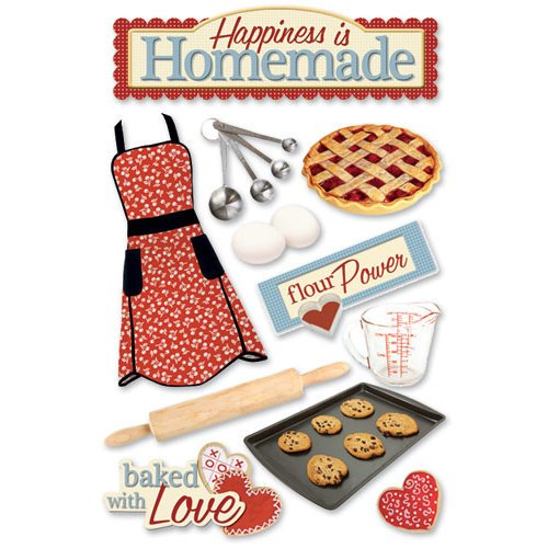 Paper House Productions - Baking Collection - 3 Dimensional Cardstock Stickers - Homemade