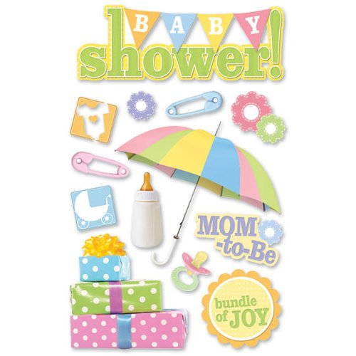 Paper House Productions - 3 Dimensional Cardstock Stickers - Baby Shower