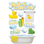 Paper House Productions - 3 Dimensional Cardstock Stickers - Rub a Dub Dub
