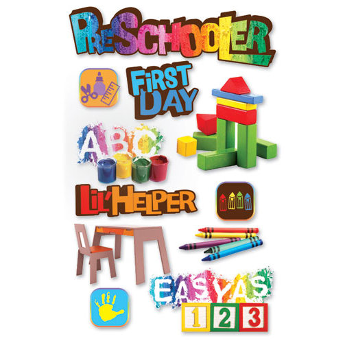 Paper House Productions - 3 Dimensional Cardstock Stickers - Pre-Schooler