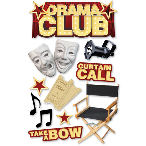 Paper House Productions - 3 Dimensional Cardstock Stickers - Drama Club
