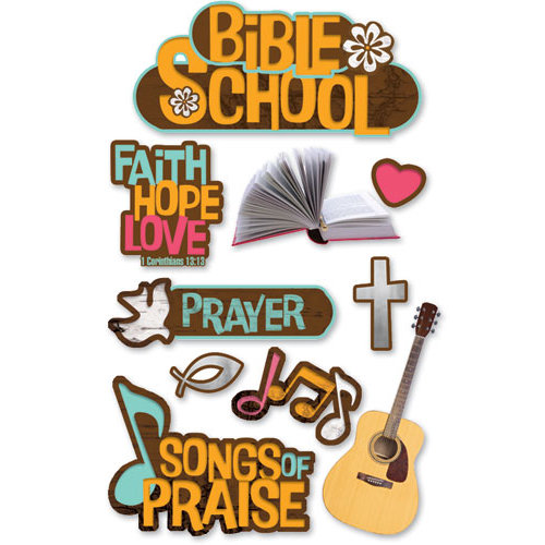 Paper House Productions - 3 Dimensional Cardstock Stickers - Bible School