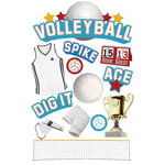 Paper House Productions - Volleyball Collection - 3 Dimensional Cardstock Stickers - Volleyball