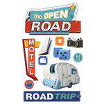 Paper House Productions - 3 Dimensional Cardstock Stickers - Road Trip
