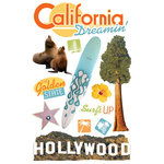 Paper House Productions - California Collection - 3 Dimensional Cardstock Stickers - California