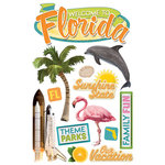 Paper House Productions - Florida Collection - 3 Dimensional Cardstock Stickers - Florida