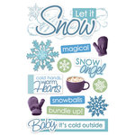 Paper House Productions - 3 Dimensional Cardstock Stickers with Glitter and Jewel Accents - Let it Snow