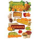Paper House Productions - Halloween - 3 Dimensional Cardstock Stickers - Pumpkin Patch