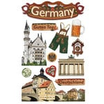 Paper House Productions - Germany Collection - 3 Dimensional Cardstock Stickers with Glitter and Jewel Accents - Germany