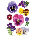 Paper House Productions - Garden Collection - 3 Dimensional Cardstock Stickers with Glitter and Jewel Accents - Pansies