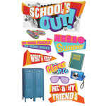 Paper House Productions - 3 Dimensional Cardstock Stickers with Glitter and Jewel Accents - School's Out