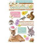 Paper House Productions - 3 Dimensional Cardstock Stickers with Glitter and Jewel Accents - All Things Beautiful