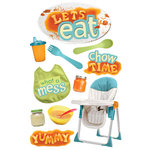 Paper House Productions - 3 Dimensional Cardstock Stickers with Glitter and Glossy Accents - Let's Eat