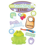 Paper House Productions - 3 Dimensional Cardstock Stickers with Glitter and Glossy Accents - Teething Time