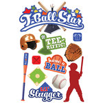 Paper House Productions - 3 Dimensional Stickers with Glitter and Epoxy Accents - T-Ball Star