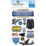 Paper House Productions - 3 Dimensional Stickers with Foil Accents - Air Force
