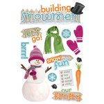 Paper House Productions - Christmas - 3 Dimensional Stickers with glitter accents - Building Snowman