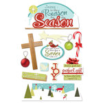 Paper House Productions - Christmas - 3 Dimensional Stickers with glitter accents - Reason for the Season