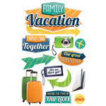 Paper House Productions - 3 Dimensional Cardstock Stickers - Family Vacation