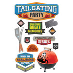 Paper House Productions - 3 Dimensional Cardstock Stickers - Tailgating Party
