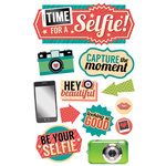 Paper House Productions - 3 Dimensional Cardstock Stickers - Time for a Selfie