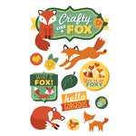 Paper House Productions - 3 Dimensional Cardstock Stickers - Crafty Like a Fox