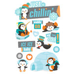 Paper House Productions - 3 Dimensional Cardstock Stickers - Just Chillin'