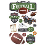 Paper House Productions - 3 Dimensional Cardstock Stickers - Football II