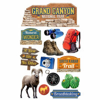 Paper House Productions - 3 Dimensional Cardstock Stickers - Grand Canyon