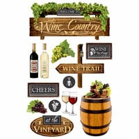 Paper House Productions - 3 Dimensional Cardstock Stickers - Wine Country